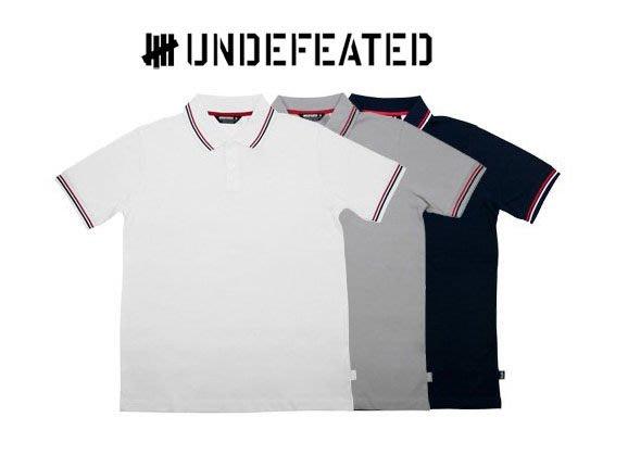 【 超搶手 】全新正品 春季 最新款 UNDEFEATED UND POLO 條紋 POLO衫 深藍色M