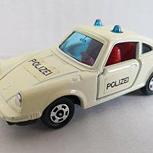 E Tomy Tomica 無箱 F16 -1  PORSCHE 911S POLICE CAR  ( 日本制)