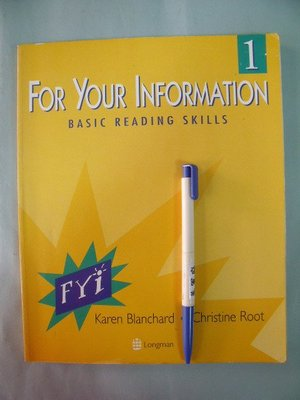 【姜軍府】《FOR YOUR INFORMATION 1》Karen Blanchard Christine Root / Longman