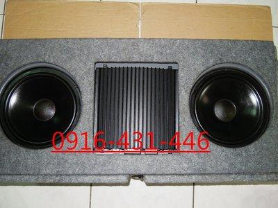 美製 a/d/s ADS 被動式 雙10吋重低音喇叭含音箱+擴大機