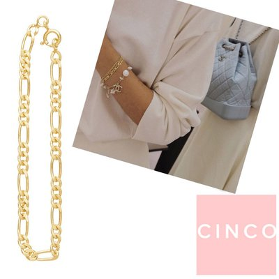 CINCO 葡萄牙精品 Nico bracelet 24K金素面手鍊 簡約百搭款