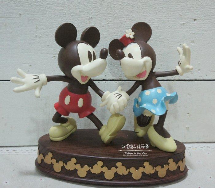 ~*歐室精品傢飾館*~鄉村風格 正版 迪士尼 可愛 相親相愛 米奇 米妮 手牽手 擺飾 裝飾 居家 民宿 ~新款上市~