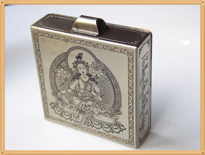 【雅之賞|藏傳|佛教文物】*特賣*手工製作 綠度母純銅嘎嗚~303240(附桑耶寺降魔寶印金剛結)