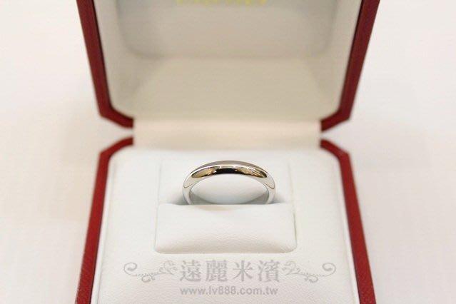 高雄(裕誠店)遠麗米濱全新二手名牌館~K3161 Cartier 950 鉑金 素面款 經典 婚戒 B4036 (真品)