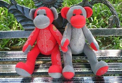 純手工 猴子 娃娃布偶 : 可愛 猴子 填充娃娃 布偶 家飾 手工 居家 裝飾