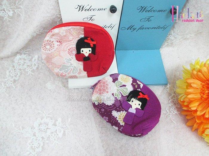 ☆[Hankaro]☆日本風和服女孩零錢包(樣品出清)