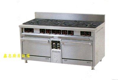 鑫忠廚房設備-餐飲設備:三主二副西餐爐烤箱,賣場有攪拌機-咖啡機-冰箱