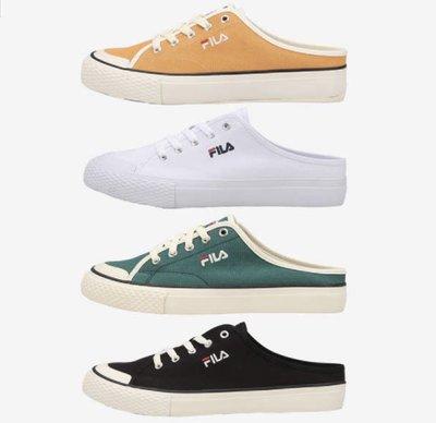 ✈️韓國代購正品《現貨+預購》FILA  CLASSIC KICKS Mule 韓星金裕貞 穆勒鞋 懶人鞋 白27