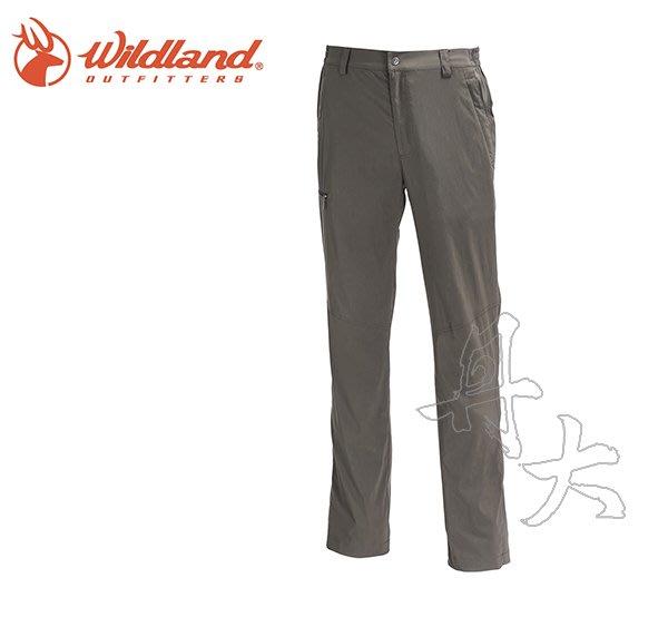 丹大戶外【Wildland】荒野 男彈性輕薄抗UV長褲 0A71352-64 深卡灰 3L
