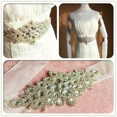 天使佳人婚紗禮服~~~~~~~~婚紗禮服奢華水鑽腰帶腰封