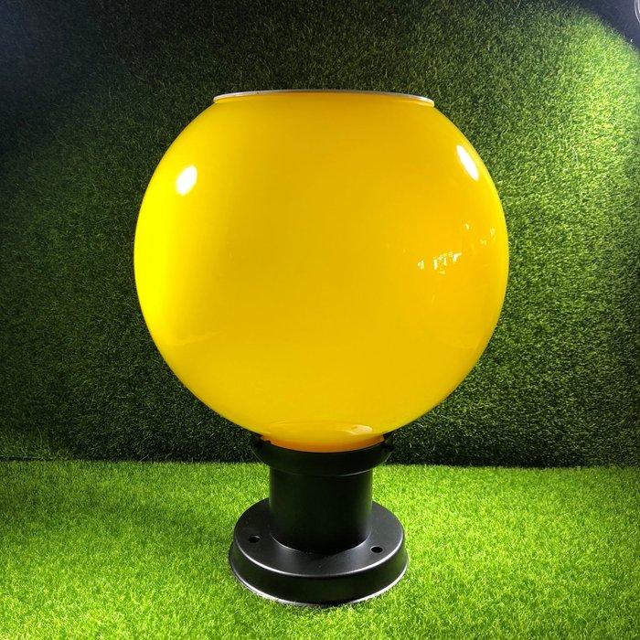 €太陽能百貨€ 保固三個月 超亮 10LED 太陽能柱頭燈 球形門柱燈 圓形牆頭燈 圍牆燈 直徑25CM Z-06面向陽