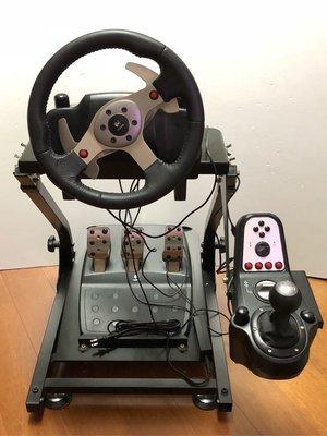 羅技 G25 賽車方向盤組、車架 支援PC、PS2、PS3 出售