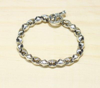 銀革手作 925 純銀 蟹鉗形 手鏈