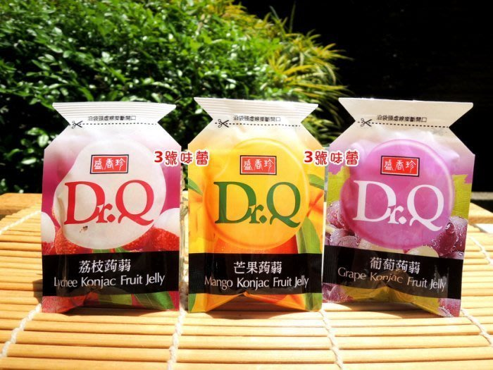 3號味蕾 量販團購~盛香珍Dr.Q蒟蒻果凍6000克(荔枝、葡萄、芒果、蜂蜜檸檬)  果汁含量22% 不沾手果凍