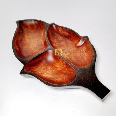 泰國手工多用途木盤水果盤 樹葉造型DSC01910