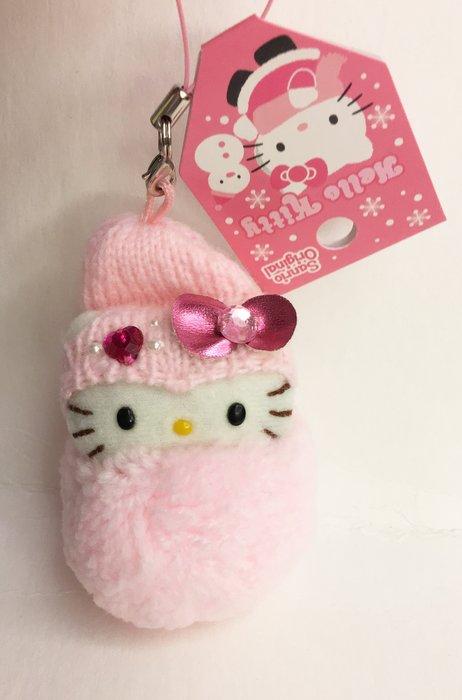 ^燕子部屋 ^凱蒂貓 Hello Kitty毛絨雪人吊飾-粉 (清倉特價)