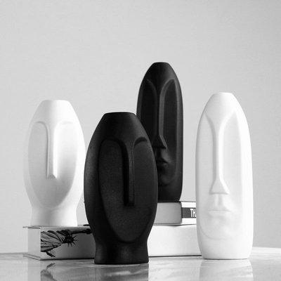 熱賣歐式家居飾品陶瓷抽象人臉擺件現代客廳壁柜電視柜花瓶裝飾擺設#擺件#陶瓷#北歐