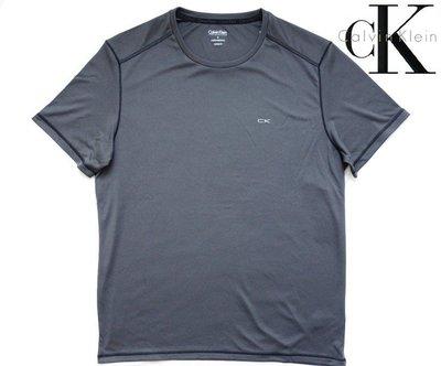 CK Calvin Klein 短袖 T 恤 運動機能 涼感排汗散熱 鐵灰色 M L【以靡專櫃正品】