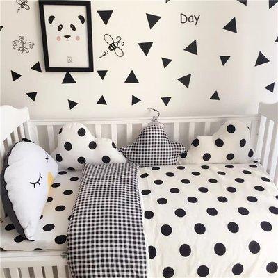 ins爆款北歐嬰兒兒童寶寶雲朵床包三件套全棉被套寶寶床圍