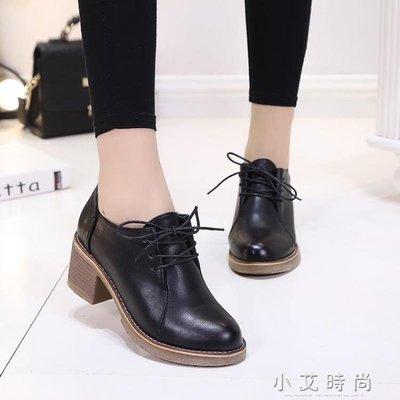 馬丁靴女短靴女鞋高跟靴子百搭韓版學生粗跟小皮鞋 小艾時尚 全館免運 全館免運