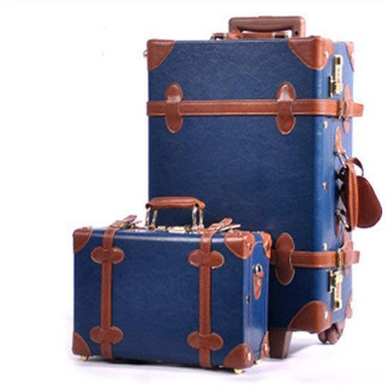 【優上精品】Urecity韓風復古拉桿箱旅行箱行李箱皮箱子母婚箱(Z-P3263)