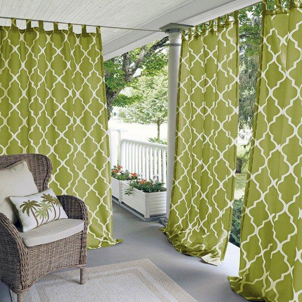 CasaBella美麗家居 | Corado 美式菱格設計 窗簾 橄欖綠 127x213cm | 落地簾 門簾 隔間簾