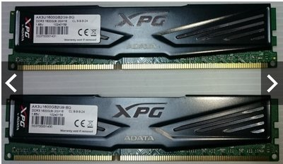 威剛 ADATA XPG DDR3-1600-2G*2=4G 超頻記憶體 / 原廠終身保固