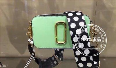 中圓點肩帶 粉綠拼色 全新真品 marc jacobs 相機包_MJ Snapshot