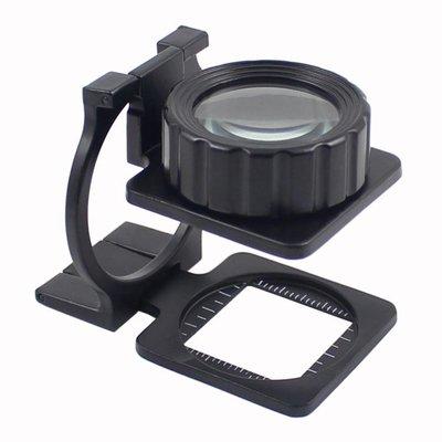 放大鏡 放大鏡20倍雙鏡頭全金屬折疊光學鏡片放大鏡 可以讀數照布鏡高清 精品阁