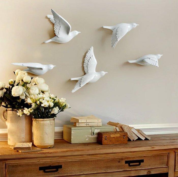 【奇滿來】歐式田園 DIY創意3D立體壁貼小鳥壁飾掛飾 共三色五款 單隻價 牆貼 牆壁裝飾 時尚居家餐廳裝潢 ABCZ