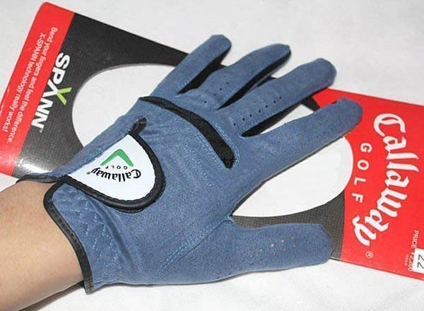 全新 CALLAWAY 男士高爾夫手套 藍色 透氣極佳 左手 擊球高手