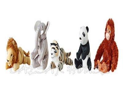 ╭☆凱薩小舖☆╮【IKEA】 新品 DJUNGELSKOG填充玩具,  獅子/ 大象/ 老虎/ 貓熊/ 猩猩 一隻$74 台中市
