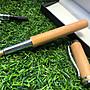 台灣黃檜老料搭配黃金腰帶半封端一般尖鋼筆