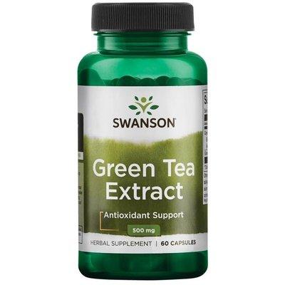 【 Swanson 】綠茶萃取 Green Tea Extract 含60%多酚 500 mg 60 顆