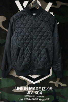 ~BLACK 5NO~   izzue菱格紋飛行員鋪棉立領外套 AAPE外套 adidas外套