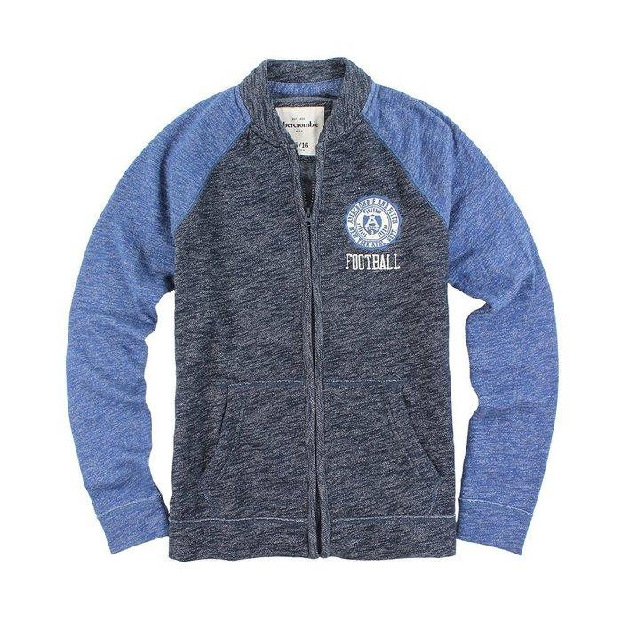美國百分百【Abercrombie & Fitch】棒球 外套 AF 立領 長袖 夾克 麋鹿 深藍/寶藍 男女 I552