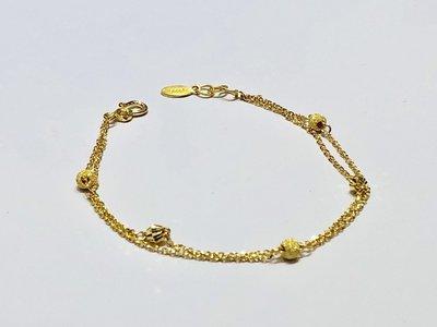 【JHT 金宏總珠寶/GIA鑽石】0.97錢/17.5cm 黃金手鍊 (請詳閱商品描述)