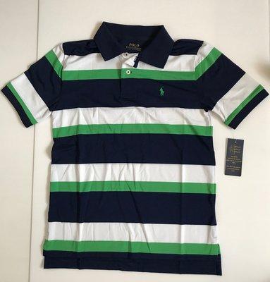 Ralph Lauren 條紋速乾POLO衫、尺寸:M