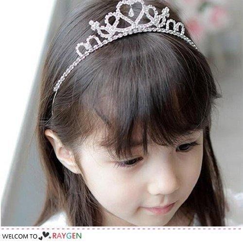 八號倉庫 公主愛心皇冠貼鑽髮箍 女童髮飾 【2B203G880】