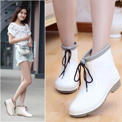 短筒時尚雨鞋女夏季成人雨靴韓國防滑水鞋女套鞋學生膠鞋中筒水靴   全館免運