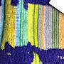 《Amys shop》日本人氣設計師津森千里可愛貓咪繡logo彩虹圖案純棉毛巾~藍綠/粉紅白~現貨
