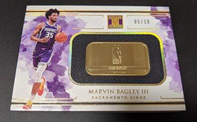 (珍貴低限量 RC 14K Gold) 2018-19 Impeccable Bagley 14K 1/2 OZ Gold Bar。非zion/ morant