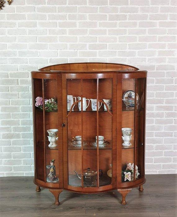 【卡卡頌 歐洲古董】英國老件 桃花心木 玻璃展示櫃 珠寶櫃  展示櫃  邊櫃  歐洲古董 ca0290