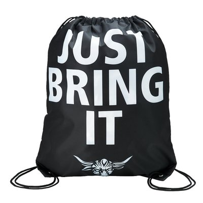 ☆阿Su倉庫☆WWE摔角 The Rock Just Bring It Drawstring Bag 巨石強森攜行束口袋