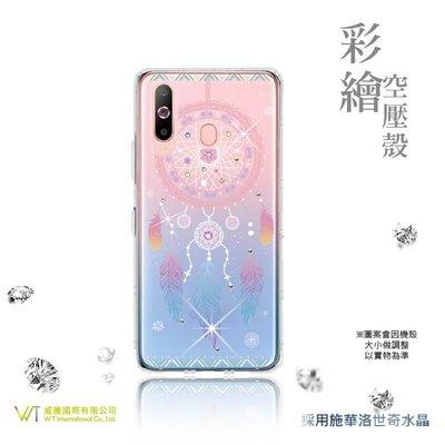【WT 威騰國際】WT ® Samsung Galaxy A8s 施華洛世奇水晶 彩繪空壓殼 軟殼 -【幸運】
