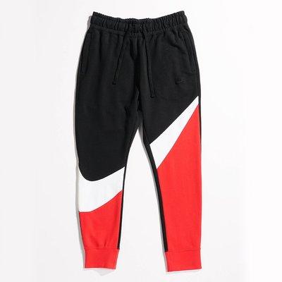 特價 NIKE French Terry Trousers 黑紅 運動休閒 拼接 長棉褲 男款 AR3087-657