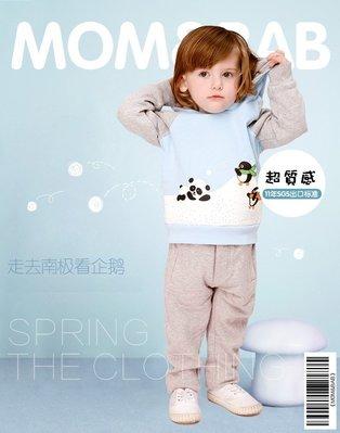 ❤大老婆小寶貝❤ 秋冬款 mom and bab 保暖刷毛熊貓&企鵝長袖帽T 12m-6T