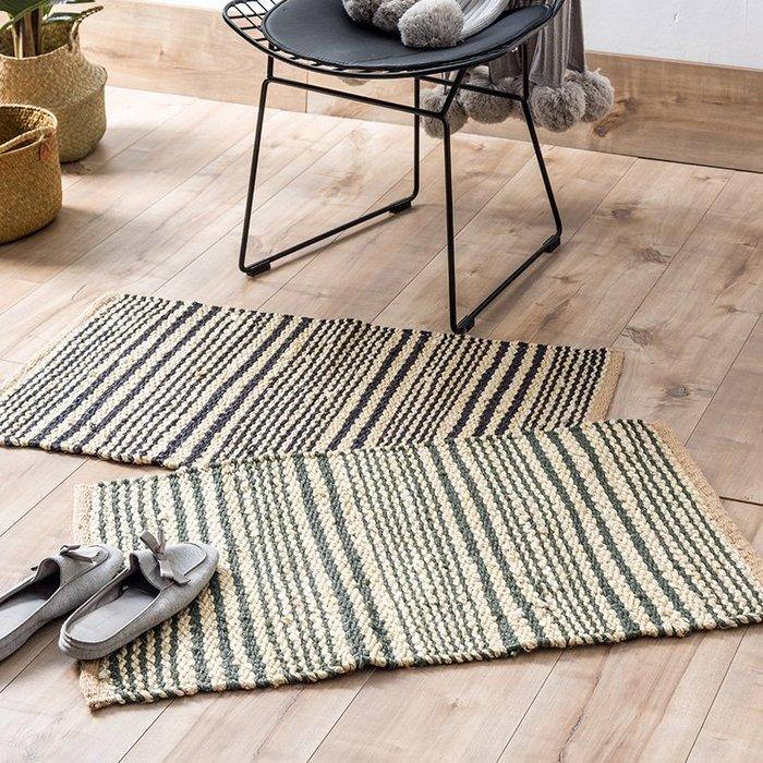 解憂zakka~  印度進口民族風3D黃麻地墊 手工編織時尚臥室門墊入戶腳墊#地墊#地毯