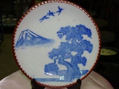 """典藏光復初期日本製作的""""青花磁盤""""~~高貴典雅"""