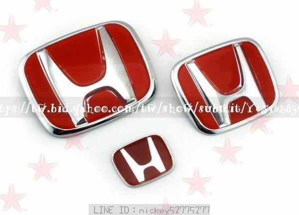*︵琪吉吉小舖︵* HONDA方向盤貼 喜美八代 九代 FIT 適用 H方向盤貼 紅H 標 HRV HR-V
